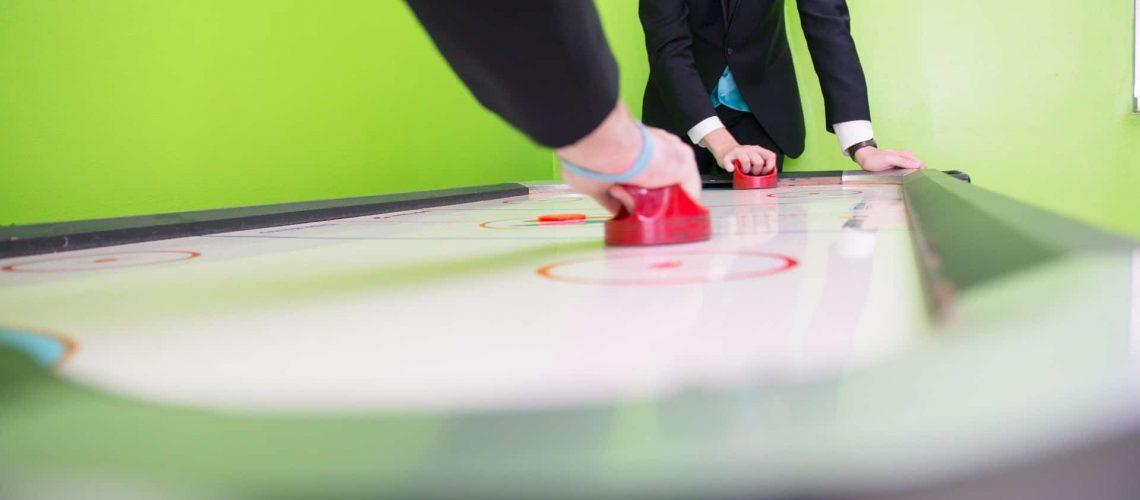 air-hockey-table-playing